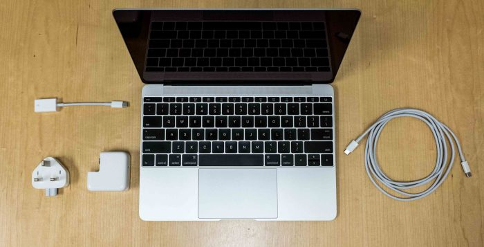 The new MacBook and its accessories