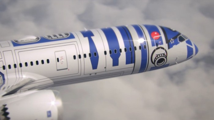 The details on the R2-D2 ANA jet are pretty impressive (Image: ANA)