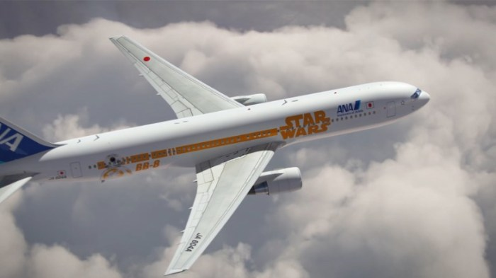 Another Boeing 777-300ER featuring BB-8 will fly the international route between Japan and North America, starting March 2016 (Image: ANA)