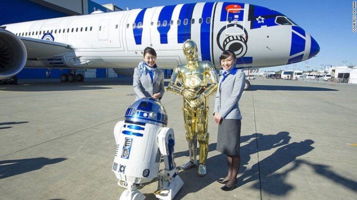 ANA launches the R2-D2 Boeing 789-7 Dreamliner jet. (Image: ANA)