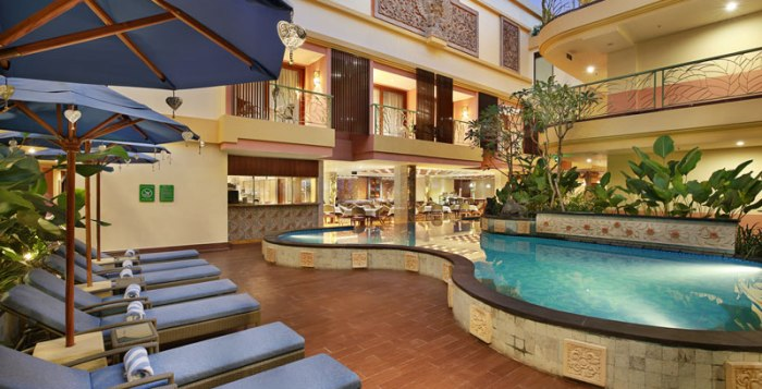 Pool view of Sens Hotel and Spa in Ubud