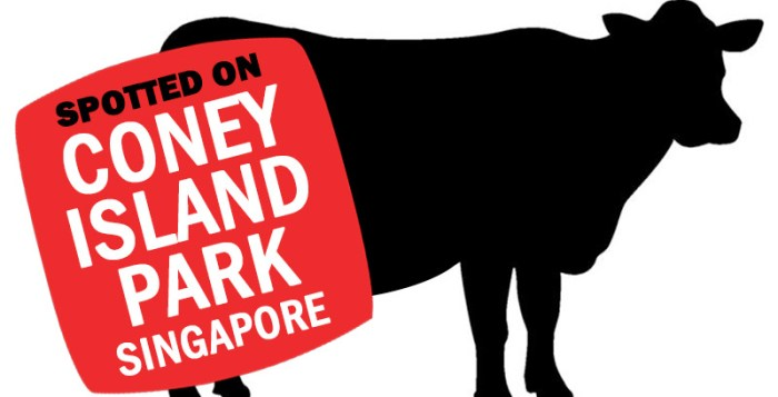 Graphic of bull on Coney Island PArk Singapore
