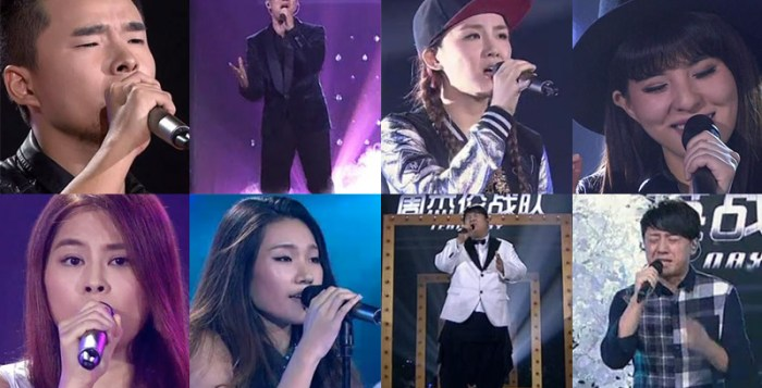 The Voice of China 4 episode 12 contestants