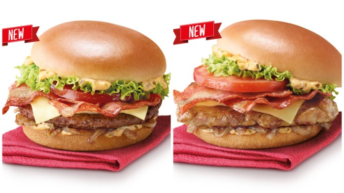 From left: Beef Clubhouse Burger, Grilled Chicken Clubhouse Burger. Image source: Mcdonalds