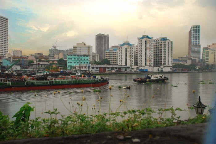 River view of Manila, Philippines