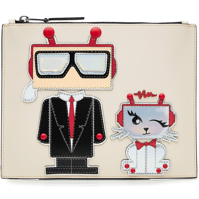 Robot Karl and Choupette Pouch