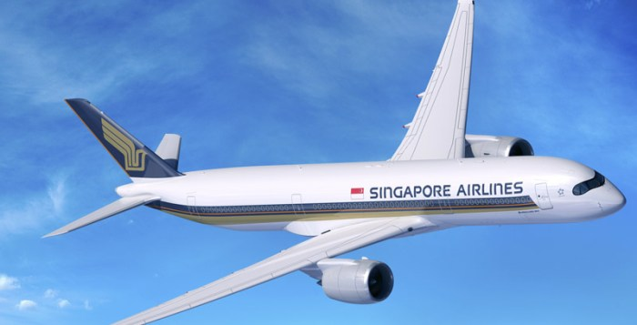 Airbus A350-900 for Singapore Airlines to Amsterdam