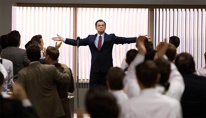 Movie stills from The Wolf of Wall Street