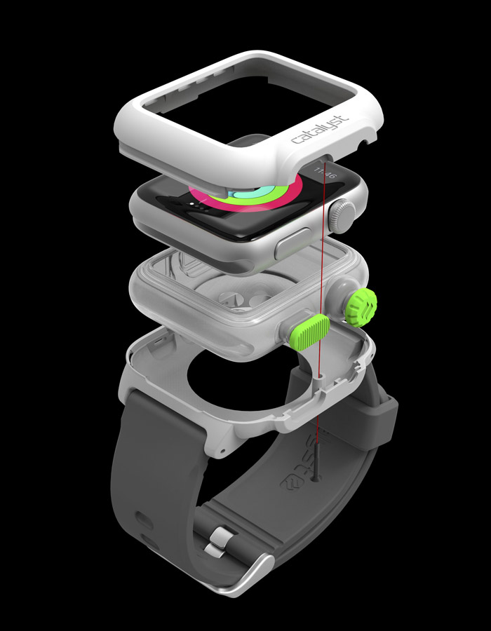 Catalyst Apple Watch Case exploded view