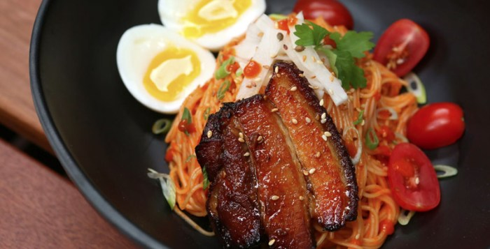 Pork Belly Bibim Guksu by Chow Fun Restaurant
