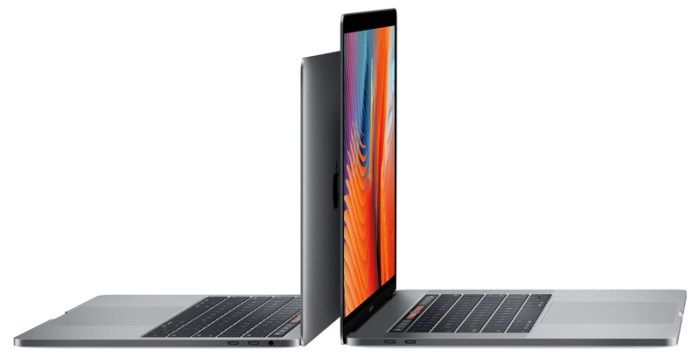 13-inch and 15 inch models of the MacBook Pro 2016