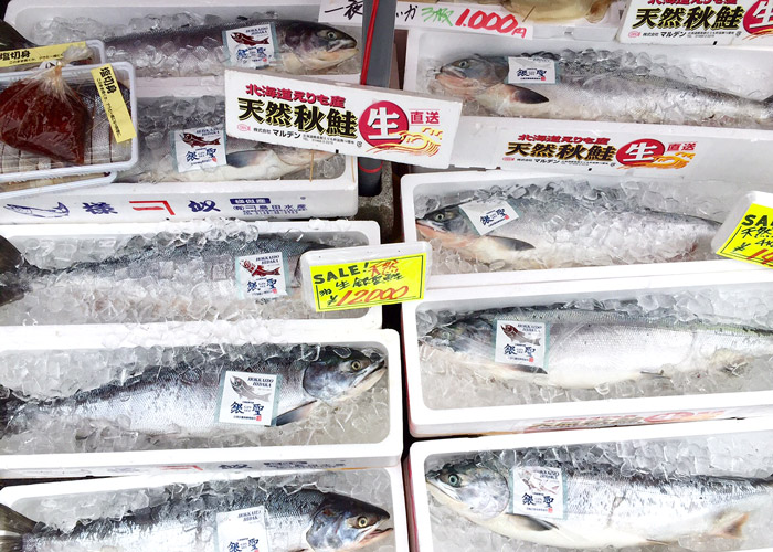 Salmon at Hakodate Morning Market