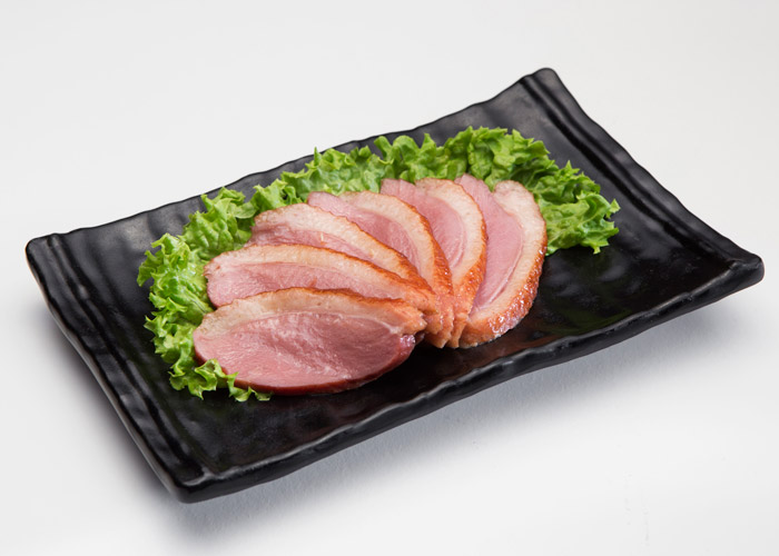 Sliced smoked duck from Steam Box