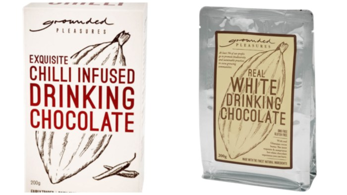 Grounded Pleasures range of cocoa drinks start from around $11 a pack.