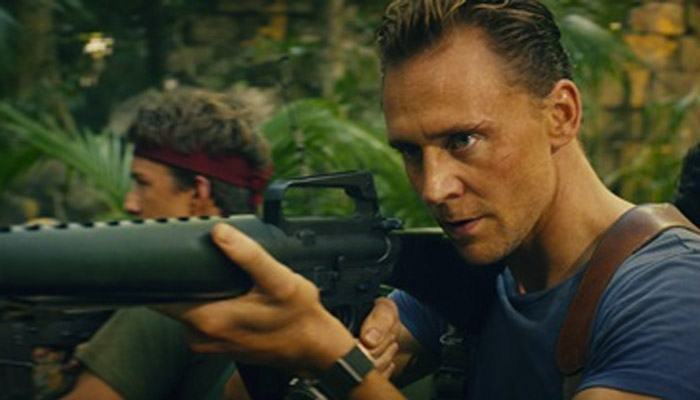 "Tom Hiddleston as Captain James Conrad in ""Kong: Skull Island"""