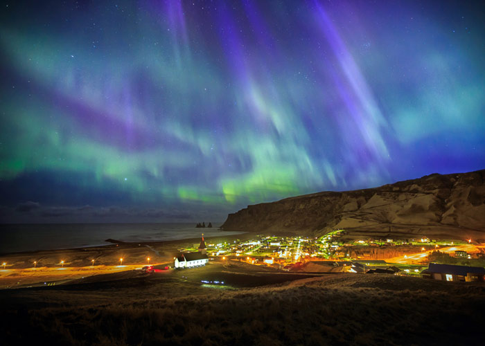 Northern Lights in Vik, Iceland