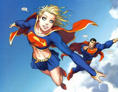 Fondos de pantalla con dibujos de Supergirl, Wallpapers HD