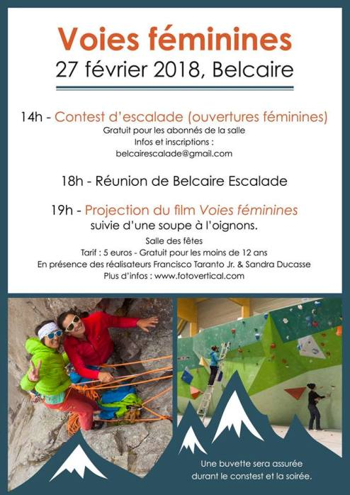 GC - voies feminines contest - escalade belcaire pyrenées