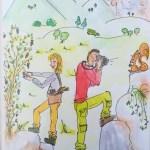Petit bonheur #10 – Grimpeurs-cueilleurs: portrait en dessin!