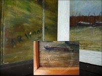 (L) Orkney mural (M) Tower Bridge (R) Port of London signatures