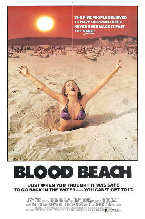 Blood Beach (1981) movie poster