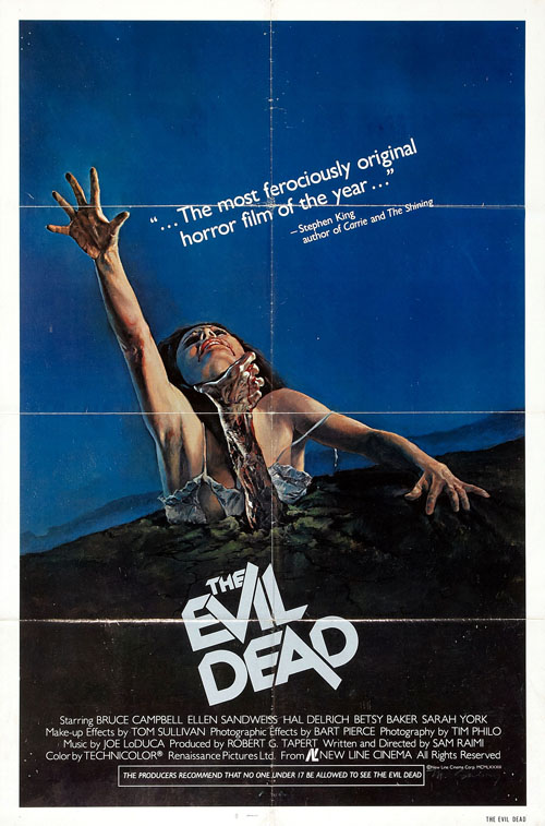 The Evil Dead (1981) horror movie poster