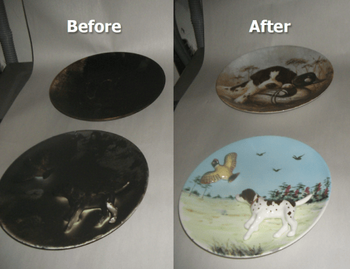 Smoke and Fire Damaged plates restored