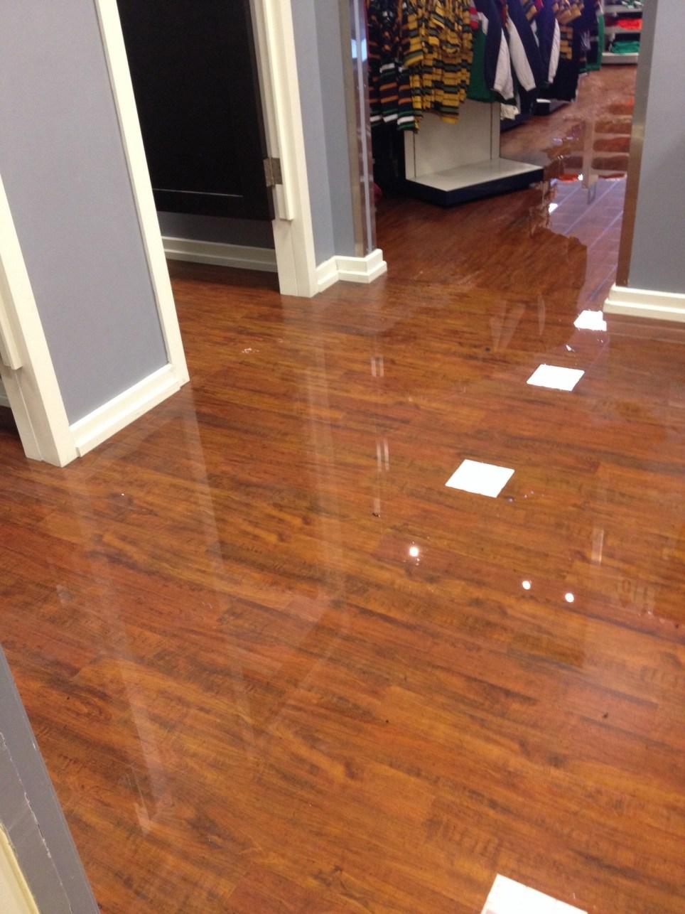 Retail store water leak