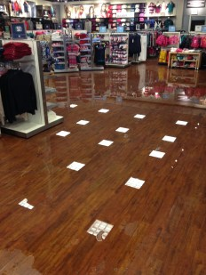 Retail store water leak