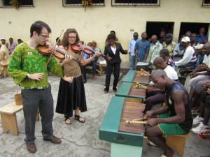 William Harvey performing in prison in Cameroon