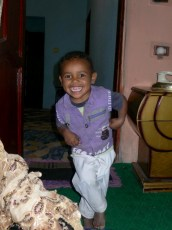 <strong>Abdallah is always playing and always smiling</strong>