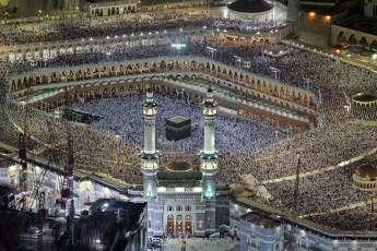 Pilgrims pray in the Grand Mosque during the Muslim month of Ramadan in the holy city of Mecca, Saudi Arabia, on August 4, 2012. (ReutersHassan Ali)