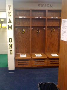 University of Michigan Wolverines lacrosse locker room