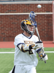 Michigan Wolverines lacrossePeter Kraus was an offensive standout