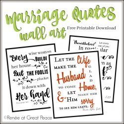 Marriage Quotes Wall Art Printable   ReneeatGreatPeace