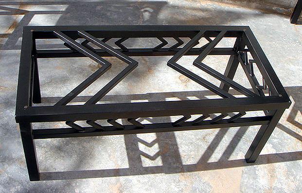 navajo iron coffee table black metal furniture