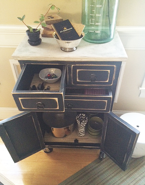 cart open drawers