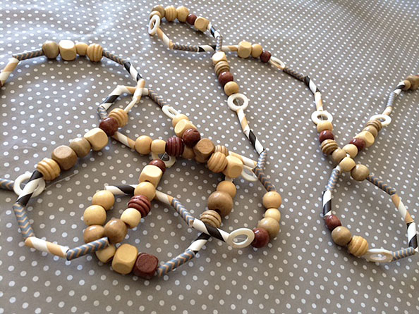 bead & straw garland finished