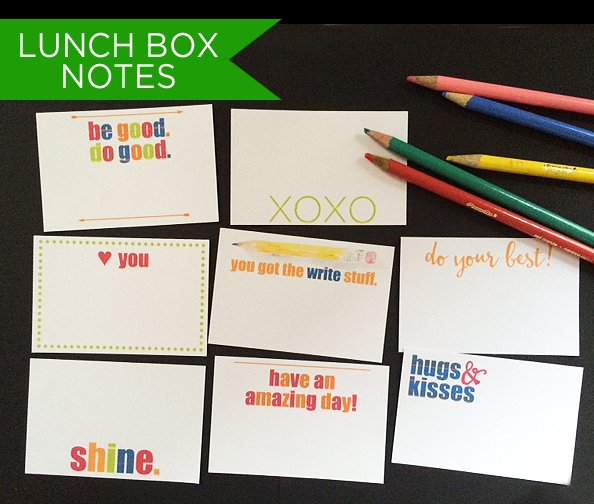 lunch box notes all