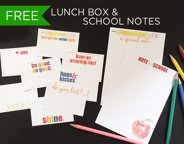 lunch box school notes all