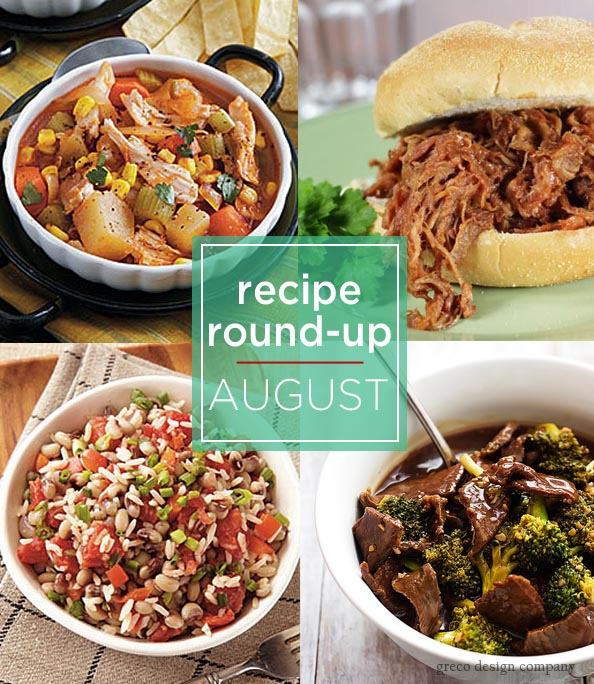 recipe round up Aug
