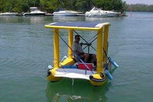 Solar Power Infaltable Boat