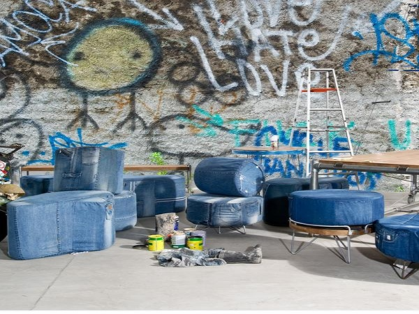 d-Bodhi's Eco-Furniture made from recycled Jeans