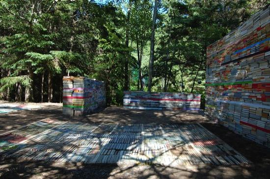 jardin de la connaissance book installation 1