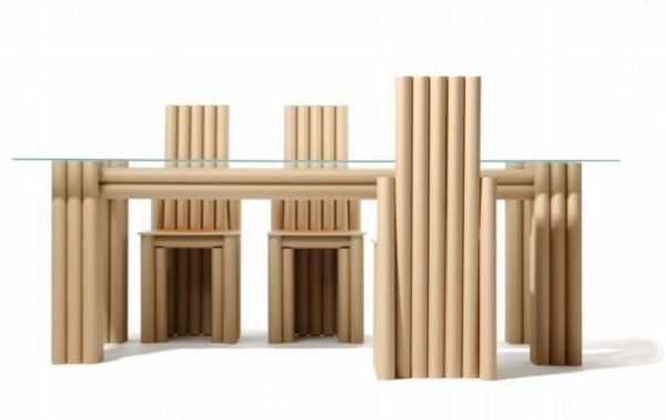 Office furniture made with recycled materials