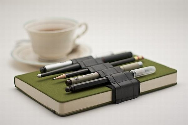 Recycled Rubber Strap Pen Holder