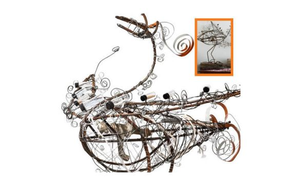 Wood And Wire Bird