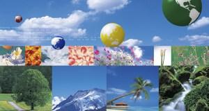 Poster depicting popular vacation destinations