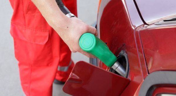 Filling up of  fuel at petrol station