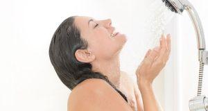lady  taking shower